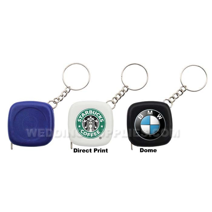 Square Ruler Measure Tape Keychain