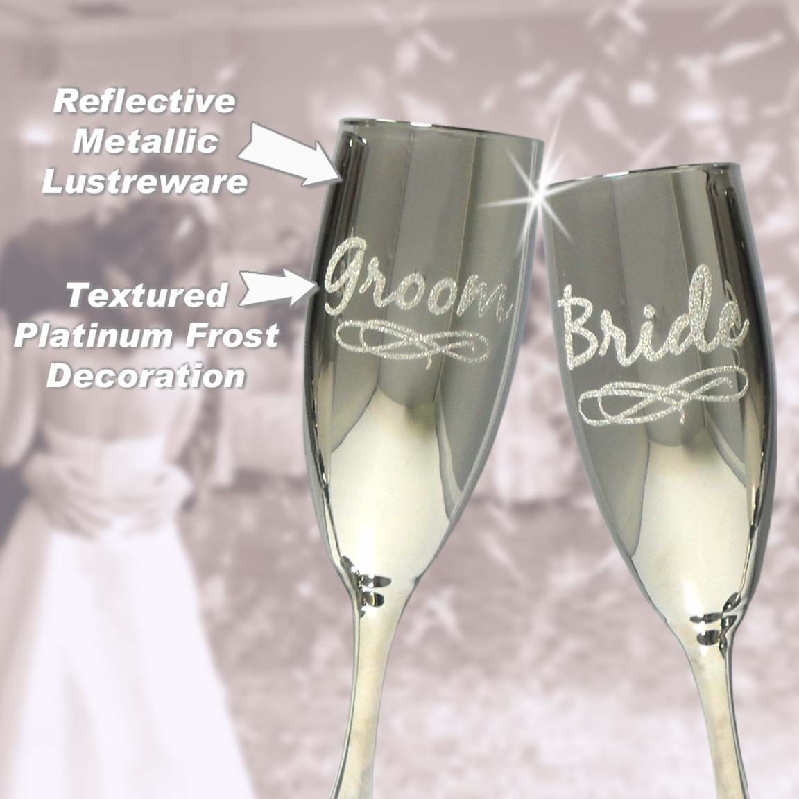 Bride and Groom Flutes