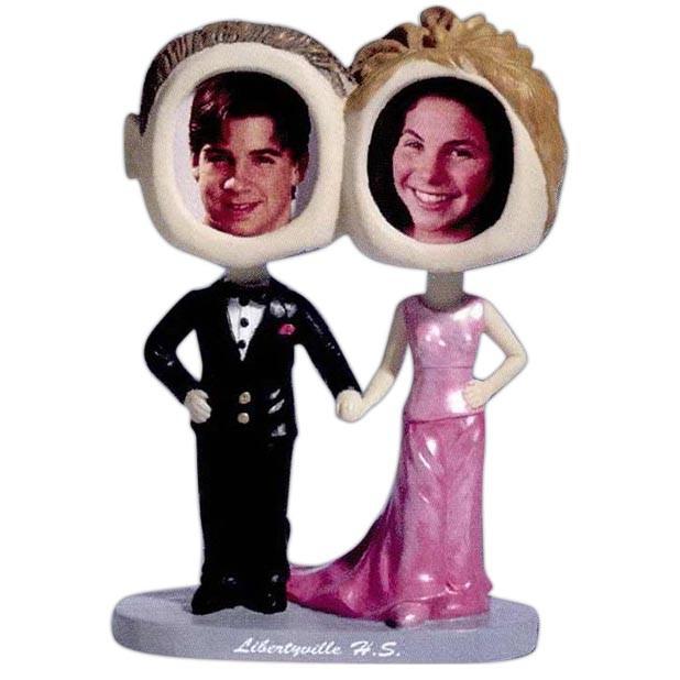 Custom Bobble-Head of Wedding Couple - A Fun Wedding Favor