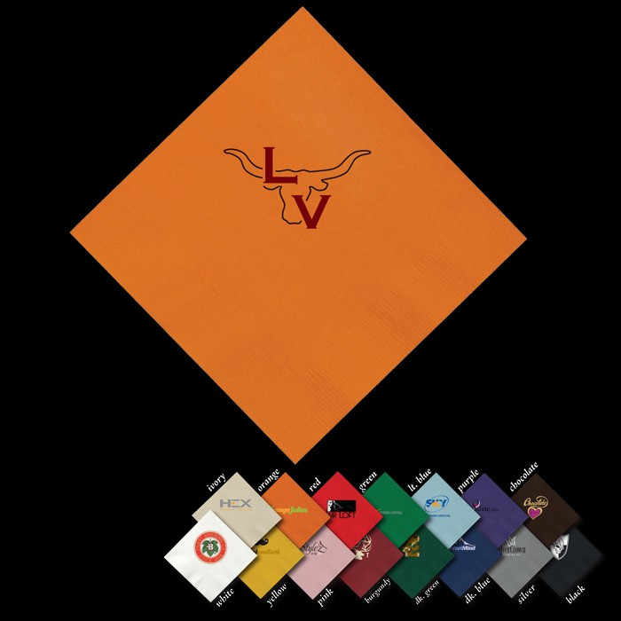 Personalized Colored Beverage Napkins