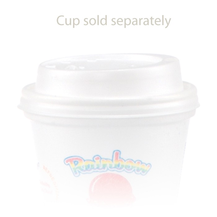 Whtie Lids For Foam Cups