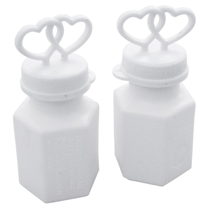 Double Heart White Bubbles