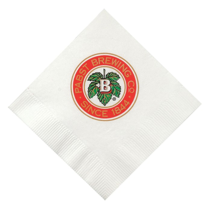 White - Beverage Napkins