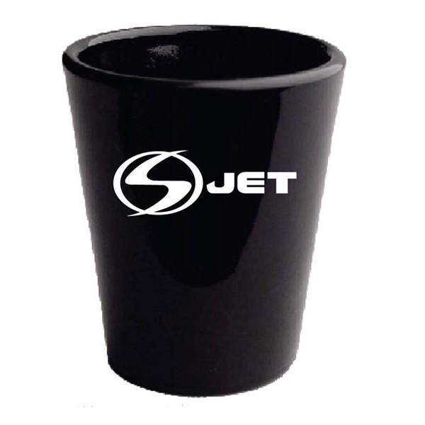Custom Printed Black Shot Glasses