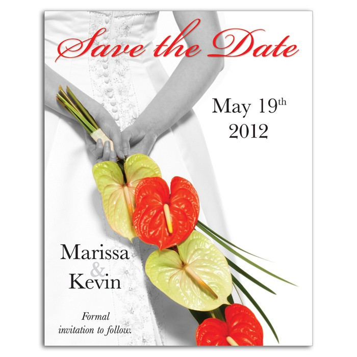 Save the Date - Bride / Flowers