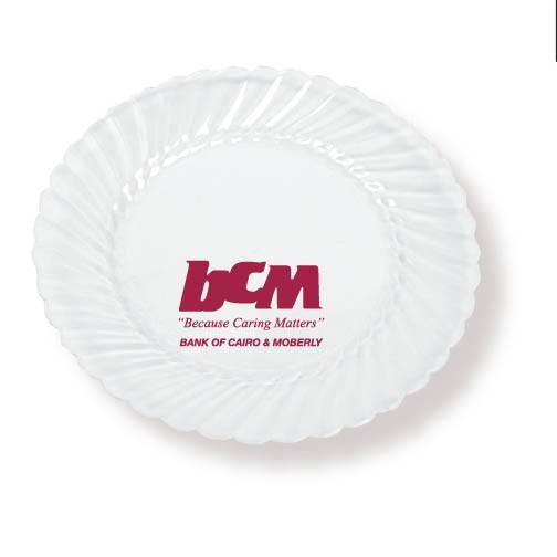 "7.5"" Clear Classic Ware Plastic Plates"