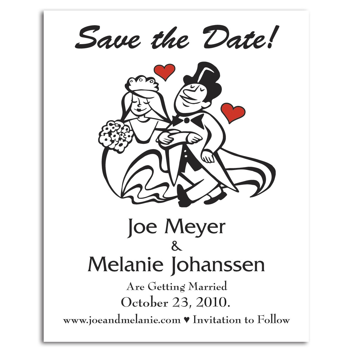 Save the Date - Cartoon Couples