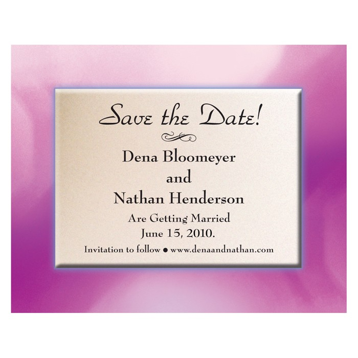 Save the Date - Pink Frame
