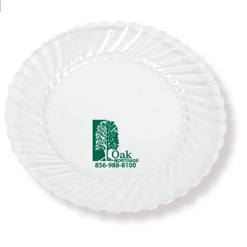 "10"" Clear Plastic Plates"