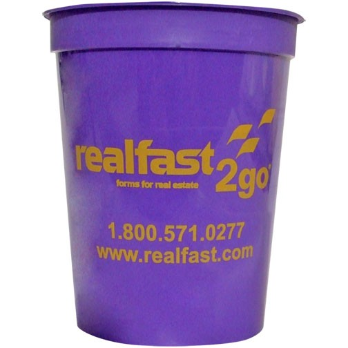 16 oz Colored Plastic Stadium Cup