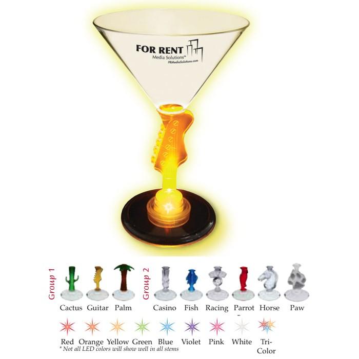 Printed Light-up Martini Glasses for Wedding