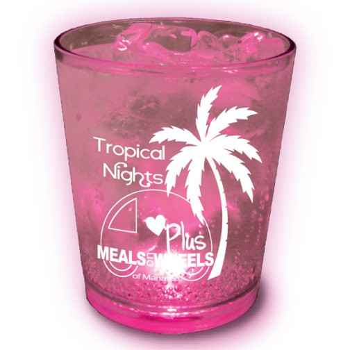 Light-up Plastic Cups with Wedding Imprint