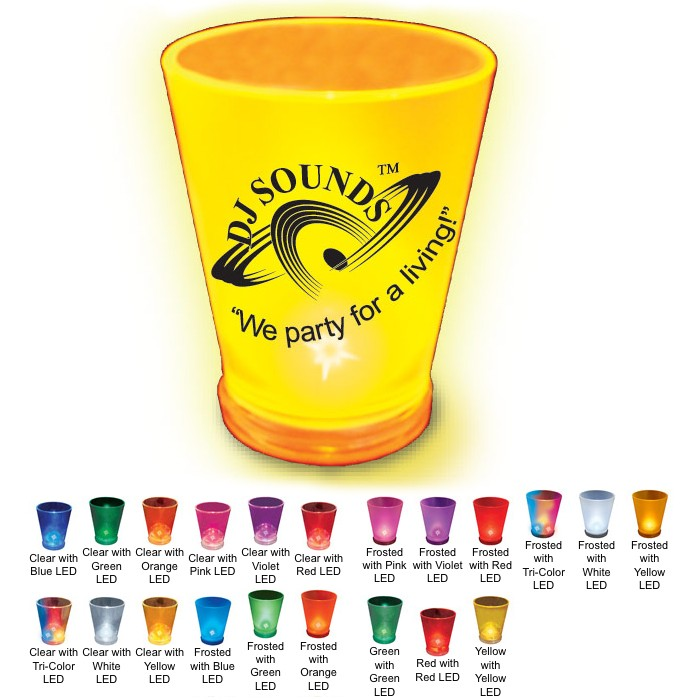 Custom Printed Blinking Shot Glasses