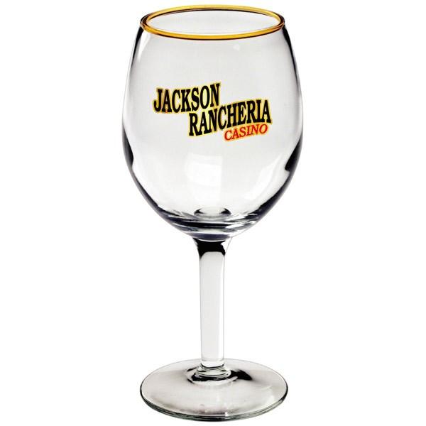 Printed White Wine Glasses