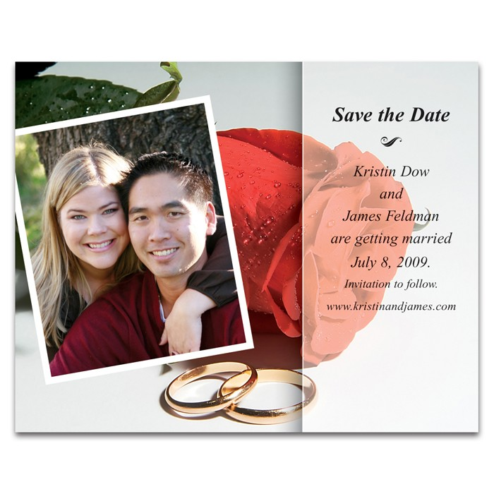 Save the Date - Rose with Photo