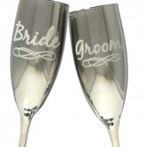 Bride Groom Champagne Glasses