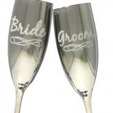 Bride Groom Champagne Glasses