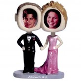 Custom Bobble-Head of Wedding Couple - A Fun Wedding Favor