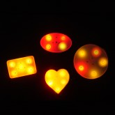 LED Light-up badge for wedding favors