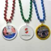 Custom Printed Wedding Favor Bead Necklaces