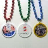 Custom Printed Wedding Favor Bead Necklaces