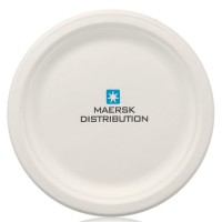 "9"" White Eco-Friendly Paper Plates"