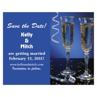 Save the Date - Champagne Glasses